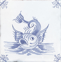 Sea Creature Delft Tile