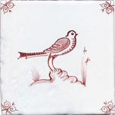 crimson delft bird design one