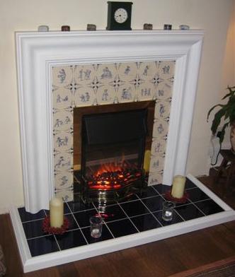 Corner Wood Burning Fireplace Designs